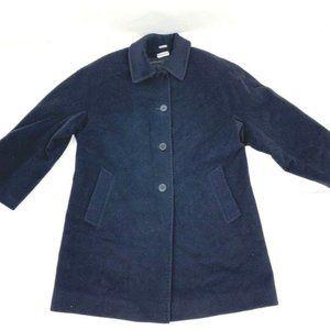 Italian Virgin Wool vintage blue stadium car coat